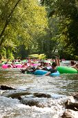 Dozens Of People Have Fun Tubing Down North Georgia River