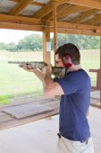 Active Shot Gun Practice At Range