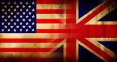 Usa And Uk Flag