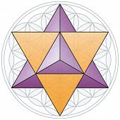 stock photo of octahedron  - The Merkaba - JPG