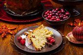 Panettone - traditional Italian Christmas cake
