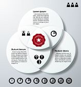 Infographics With Three Overlapping Circles