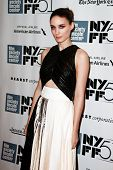 NEW YORK-OCT 12: Actress Rooney Mara attends the premiere of