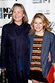 NEW YORK- OCT 8: Actors Cherry Jones and Celia Keenan-Bolger (R) attend the