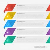 Flat Colorful Step by Step Infographics