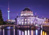 Museum Island and TV Tower in Berlin, Germany.