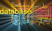 Database Word Cloud Glowing