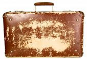Vintage Old Brown Suitcase