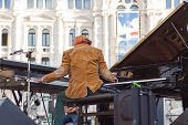 Omar Sosa Playing Piano
