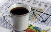 Morning Coffee And Newspaper