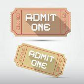 Vector Admit One Ticket Illustration
