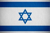 image of israeli flag  - flag of Israel or Israeli banner on paper background - JPG