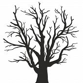 straight vector tree with branches