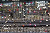 Lockers At The  Hohenzollern Bridge Symbolize Love For Ever
