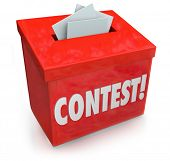 stock photo of raffle prize  - Contest Entry Form Box Enter to Win Jackpot Prize - JPG