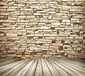 Space of vintage grungy paint black and brown brickwall background of cement, stone old dark stucco