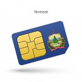 State of Vermont phone sim card with flag.