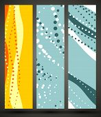 eps10, banner with abstract pattern