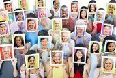 stock photo of multicultural  - Social Media - JPG