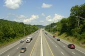 Six-Lane Highway with commuters, Interstate 40, Knoxville, TN, USA
