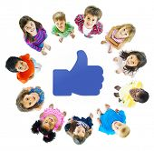 stock photo of pre-adolescents  - Social Media Kids - JPG