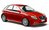 image of designated driver  - Red Family 3D Car - JPG
