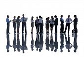 Silhouette of Business People Meeting