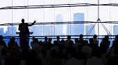 foto of debate  - Silhouette of Large Business Presentation - JPG