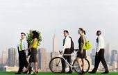 Green Business Commuters in New York City