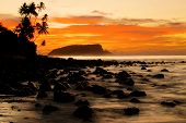 Sunrise Over Beach Paradise in Samoa