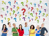 Group Of Multi-Ethnic Casual People Having Questions