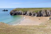 Secluded Beach Along Pembrokeshire Coastal Path