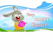 Happy Rabbit and Easter Egg.Holiday Happy Easter.Vector