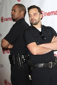 LOS ANGELES - MAR 27:  Damon Wayans, Jake Johnson at the 20th Century Fox CinemaCon 2014 Photo Call