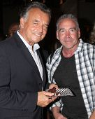 LOS ANGELES - MAR 25:  Ray Wise, Michael Fairman at the Young and Restless 41st Anniversary Cake at