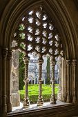 Batalha, Portugal - July 17, 2013: Royal Cloister of the Batalha Monastery. A masterpiece of the Got