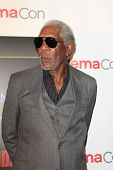LOS ANGELES - MAR 27:  Morgan Freeman at the  CinemaCon 2014 - Warners Brothers Photocall at Caesars