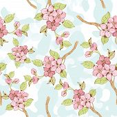 Sakura branch seamless pattern?