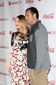 LOS ANGELES - MAR 27:  Drew Barrymore, Adam Sandler at the  CinemaCon 2014 Awards Gala at Caesars Pa
