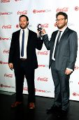 LOS ANGELES - MAR 27:  Evan Goldberg, Seth Rogen at the  CinemaCon 2014 Awards Gala at Caesars Palac