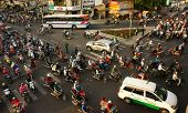 Citizen Transport By Motorcycles, Ho Chi Minh, Vietnam