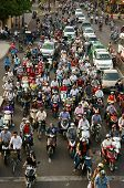 Urban Traffic, Air Polution, Exhaust Fumes, Vietnam