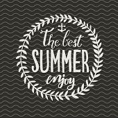 Enjoy the best summer. Concept vector card