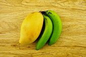 Big Mango Or Mangifera Indica And Banana