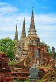 Wat Phra Si Sanphet Temple. Thailand, Ayutthaya Province