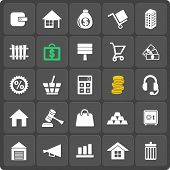 Set of 25 vector money web and mobile icons