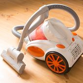 picture of suction  - vacuum cleaner stands in the home - JPG
