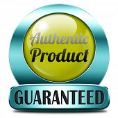 authentic label or button or icon quality guaranteed label authenticity guarantee assurance label fo