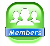 members only restricted area icon sign or sticker become a member and join here to get your membersh