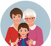 Grandmother, Mother And Daughter
